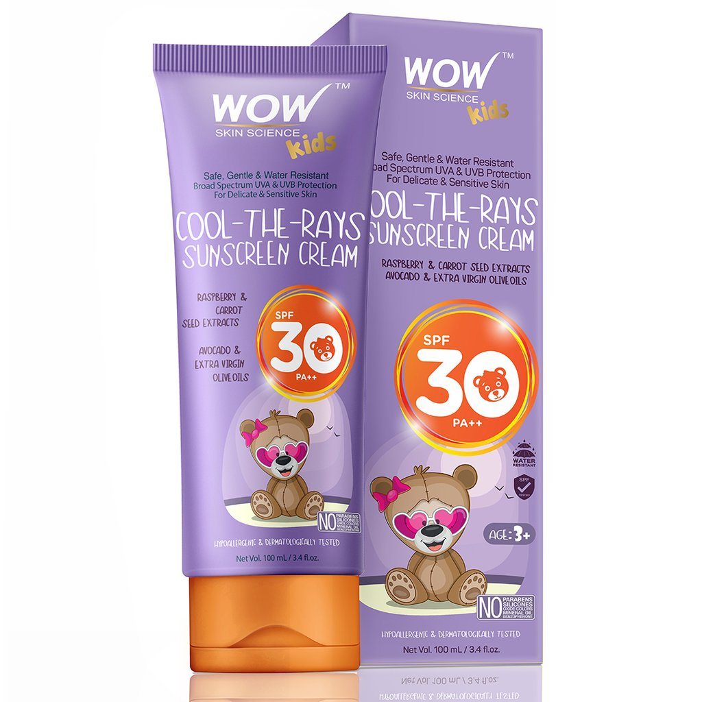 Wow Kids Cool-The-Rays Sunscreen Cream SPF 30 Pa++
