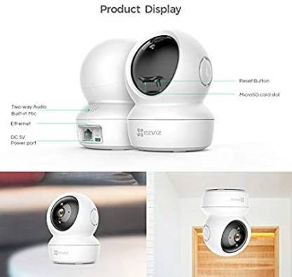 EZVIZ by Hikvision C6N Wireless Full HD 360 View Pan Tilt Indoor Home Camera