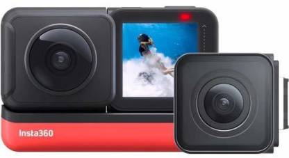 Insta360 ONE R Twin Edition 5.7K Panoramic Sports Action Camera 4K 60fps (Wide Angle, Flow State, Anti-Shake IPX8, Waterproof)