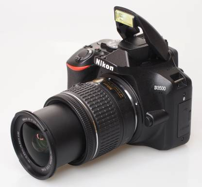 Nikon D3500 W/AF-P DX Nikkor 18-55mm f/3.5-5.6G VR with 16GB Memory Card and Carry Case