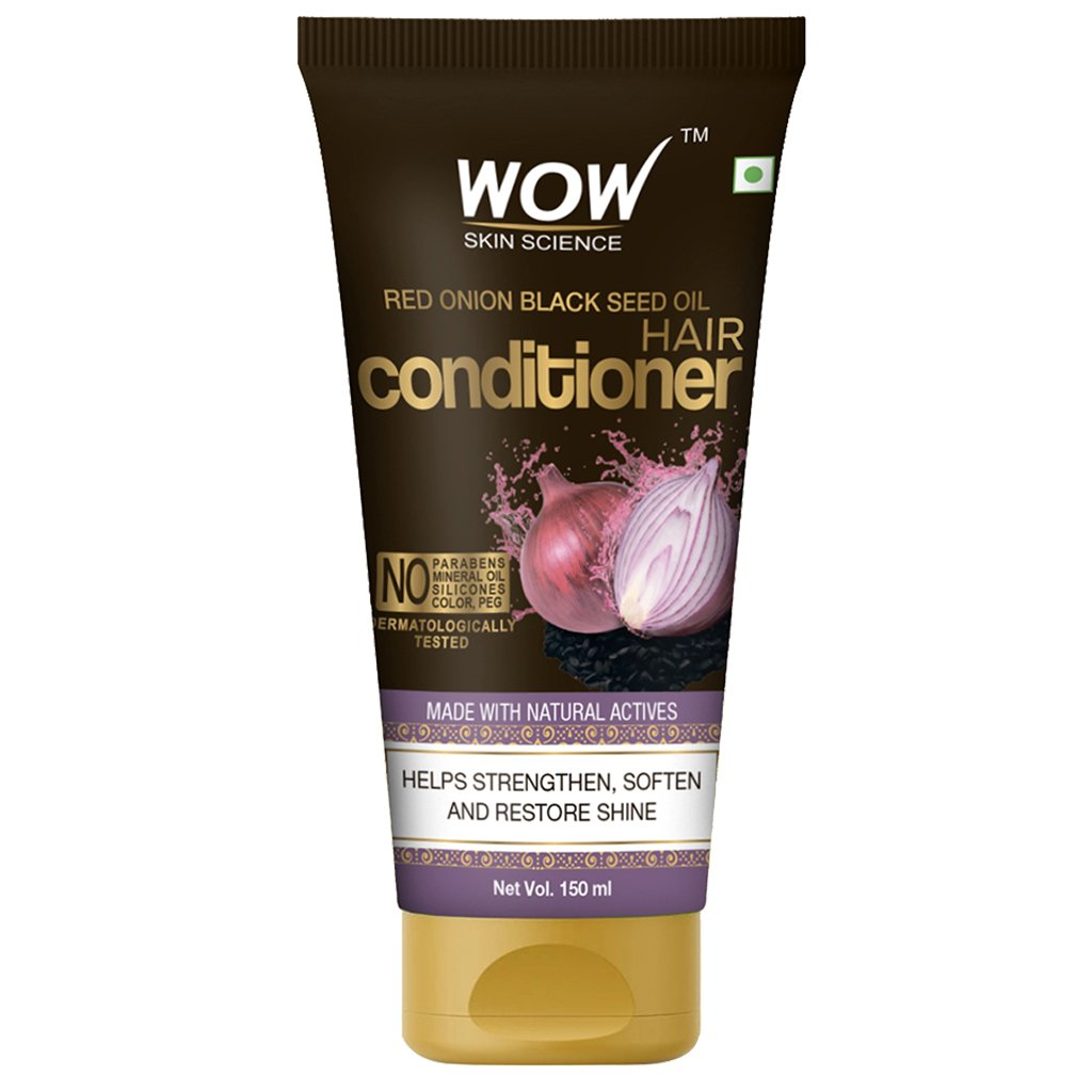 Wow Red Onion Black Seed Oil Hair Conditioner with Red Onion Seed Oil Extract, Black Seed Oil & Hydrolyzed Wheat Protein
