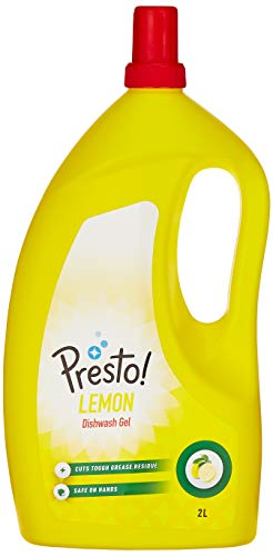 Amazon Brand, Presto! Dish Wash Gel (Lemon)