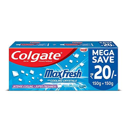 Colgate Max Fresh Blue Gel Toothpaste for super freshness Peppermint Fresh Saver Pack