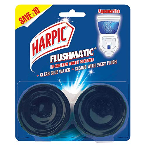 Harpic Flushmatic Twin In-Cistern Toilet Cleaner (Aquamarine)