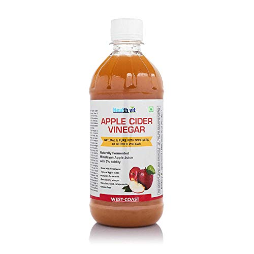 HealthVit Apple Cider Vinegar with Mother Vinegar, Raw, Unfiltered and Undiluted