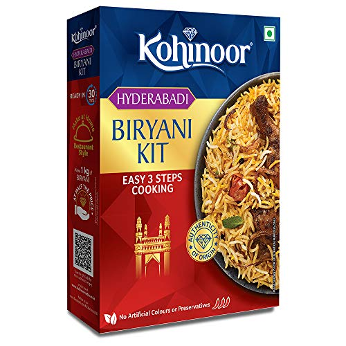 Kohinoor Authentic Basmati Biryani Kit, 327gm