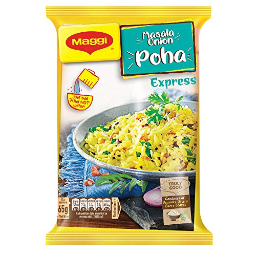 Maggi Ready to Eat, Masala Onion Poha Express, 65gm