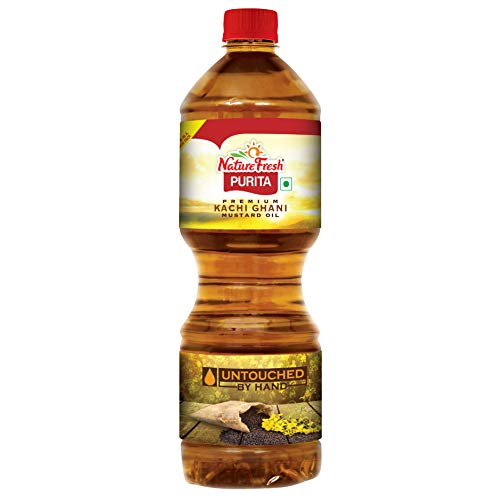 Nature Fresh Kachi Ghani Mustard Bottle