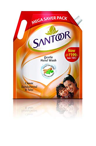 Santoor Classic Gentle Hand Wash with Natural Goodness of Sandalwood & Tulsi