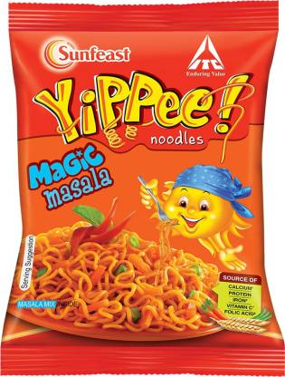 Sunfeast YiPPee! Magic Masala long, slurpy noodles (Six in One Pack) 360g Pack