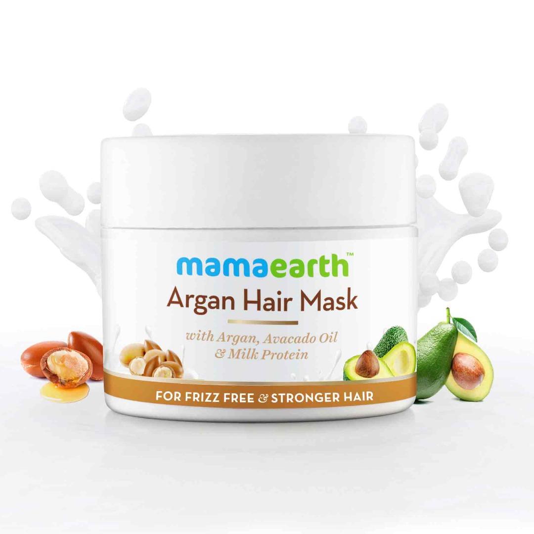 MamaEarth Argan Hair Mask with Argan, Avocado Oil, & Milk Protein