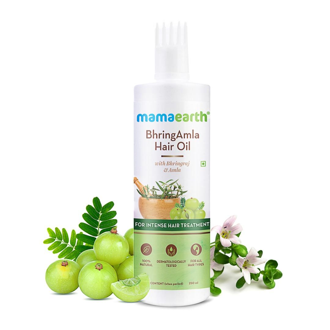 MamaEarth Bhringamla Hair Oil with Bhringraj & Amla for Intense Hair Treatment