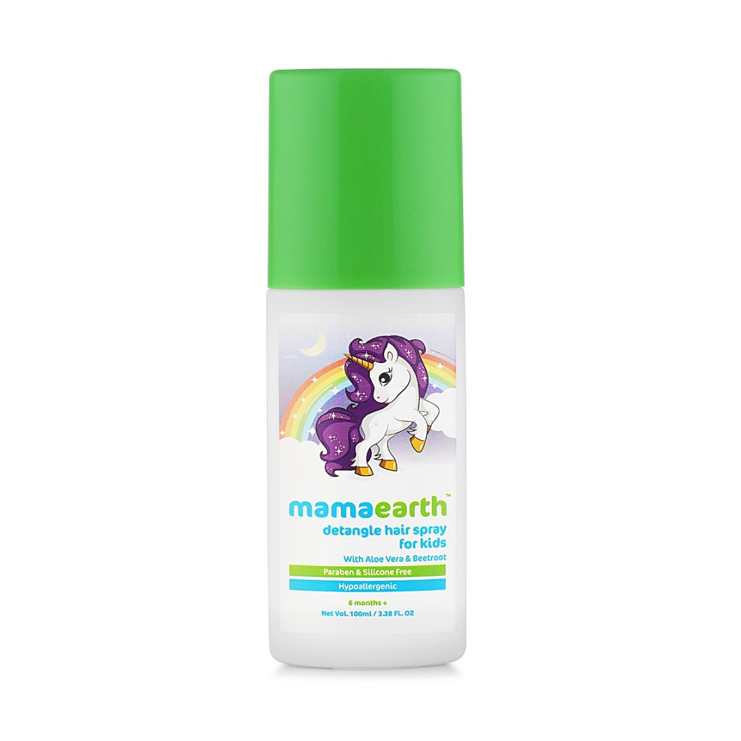MamaEarth Detangle Hair Spray for Kids with Aloe Vera & Beetroot Extract