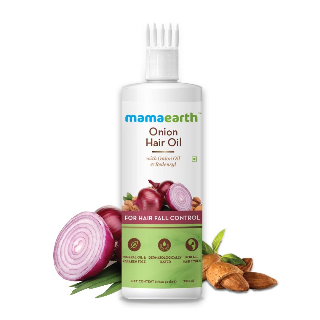MamaEarth Onion Hair Oil for Hair Regrowth & Hair Fall Control