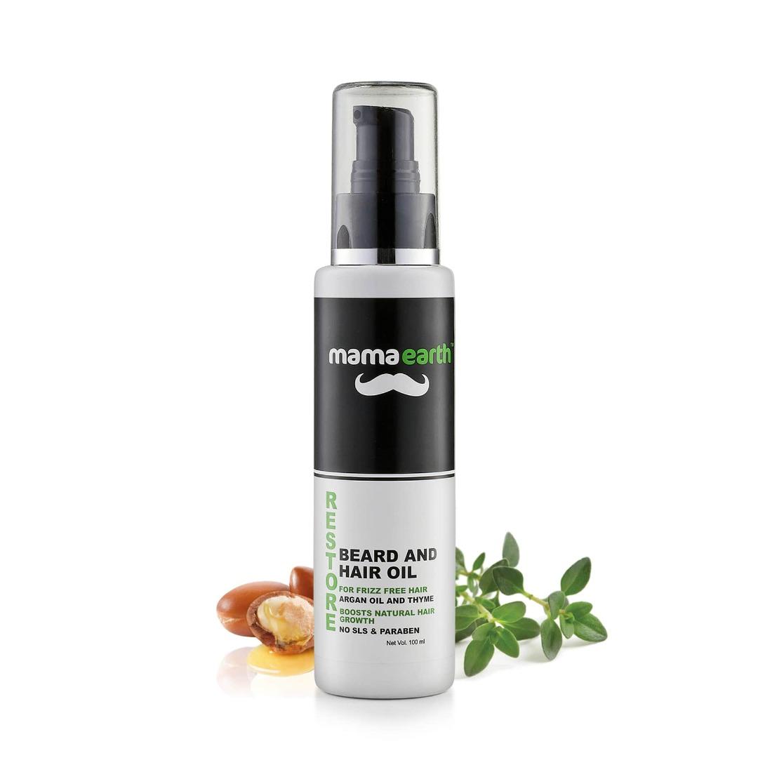 MamaEarth Restore Beard & Hair Oil for Men