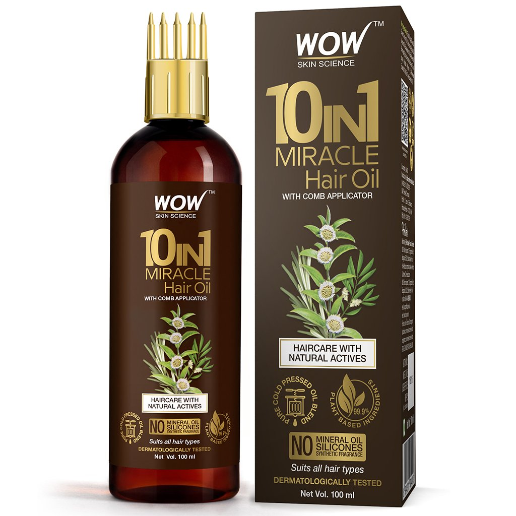 Wow 10 In 1 Miracle Cold Pressed Hair Oil with Comb Applicator
