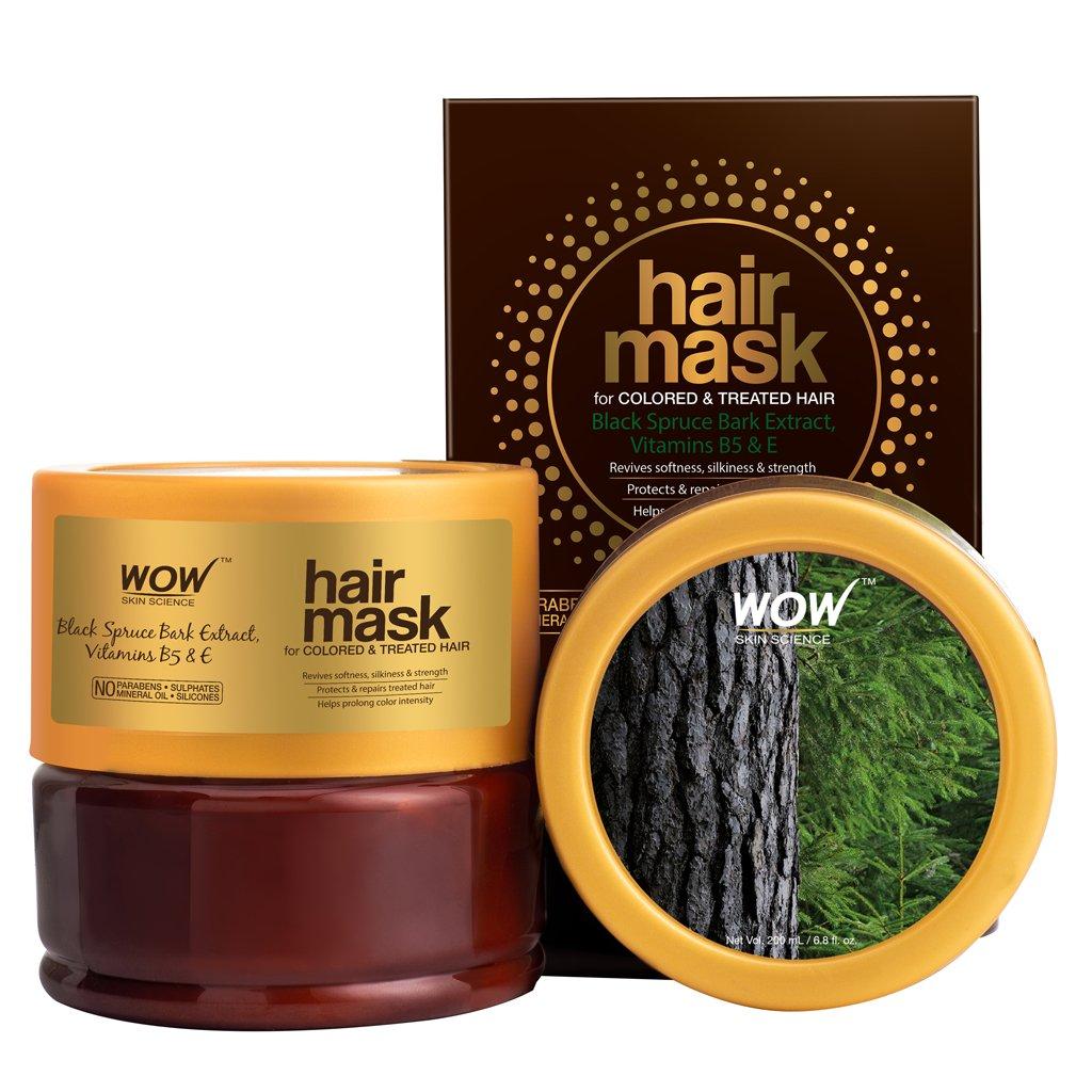 Wow Black Spruce Bark Extract, Vitamin B5 & E Hair Mask
