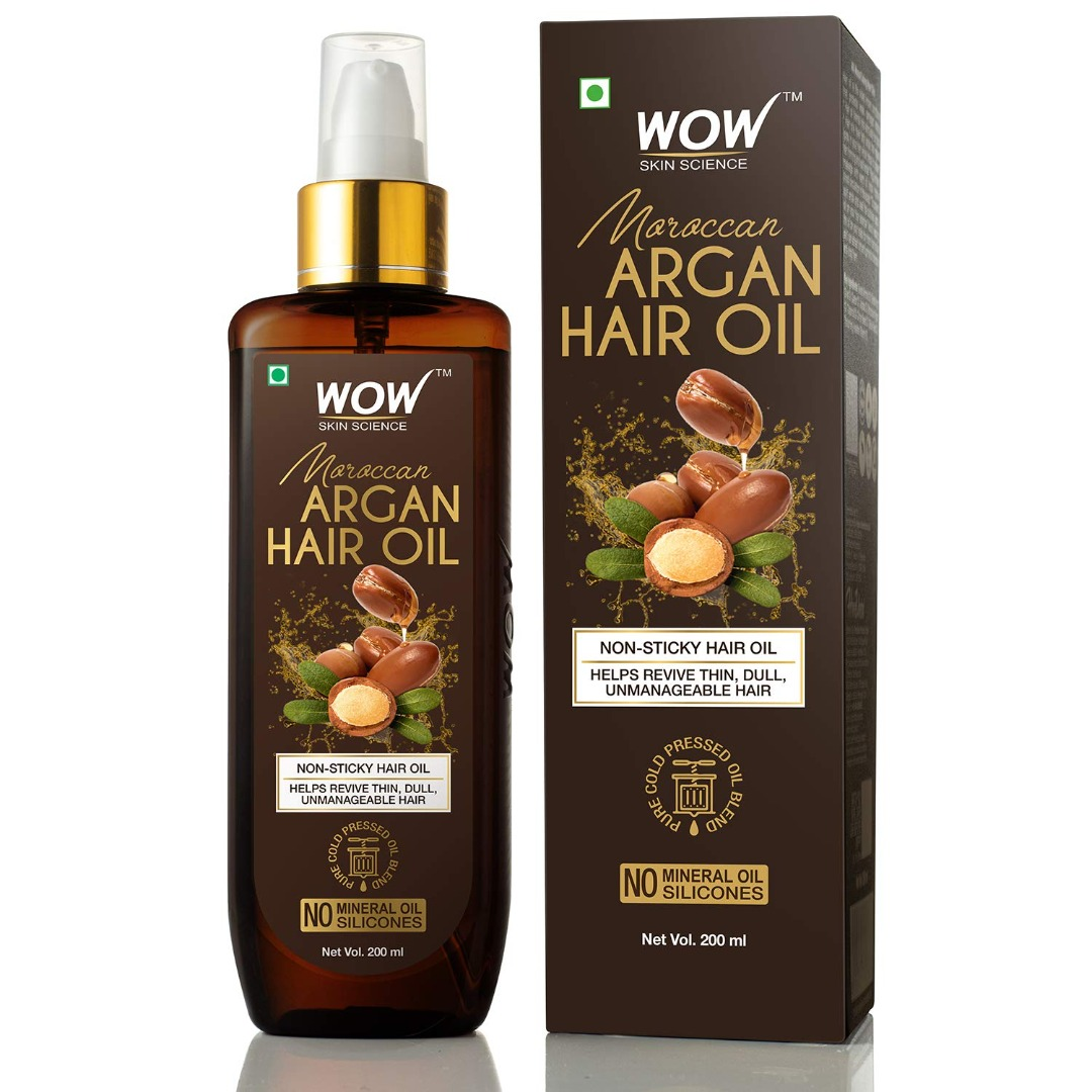 Wow Cold Pressed Moroccan Argan Hair Oil