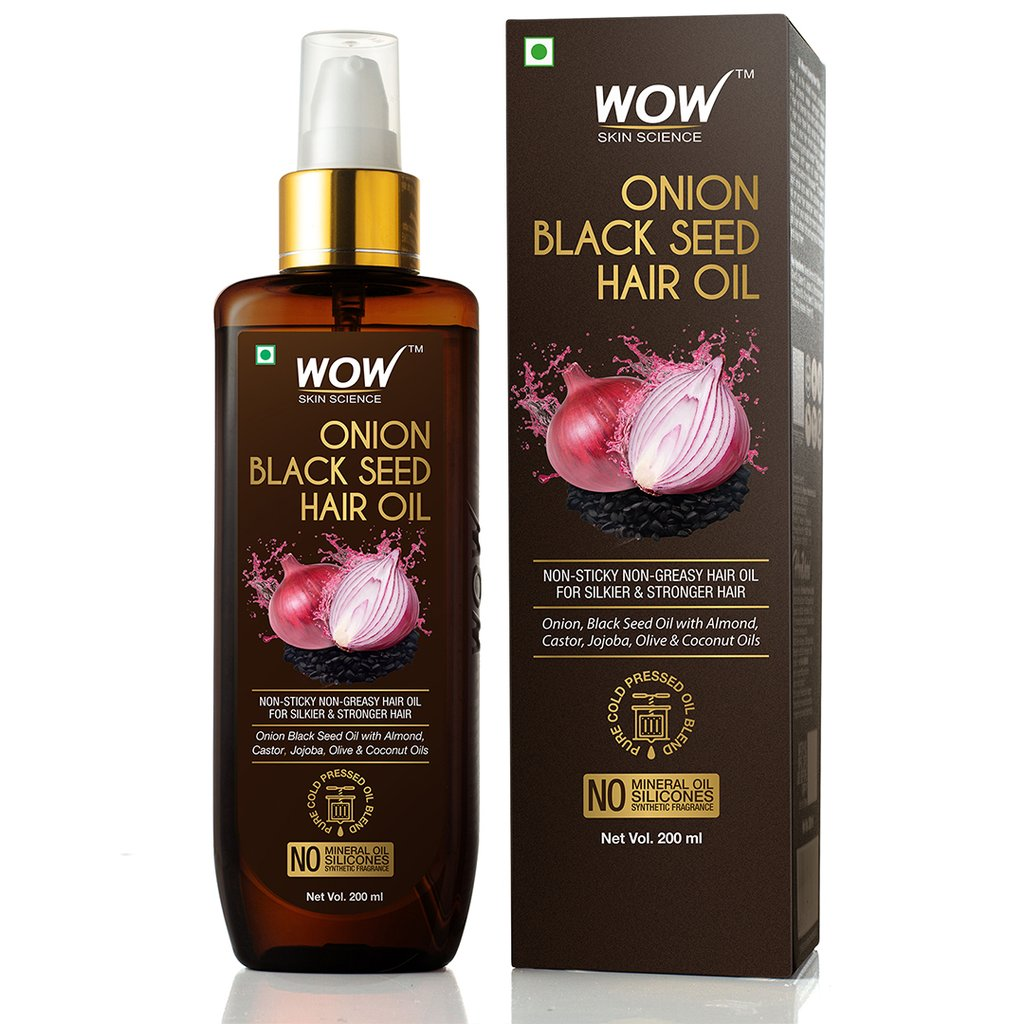 Wow Onion Black Seed Hair Oil, Controls Hair Fall