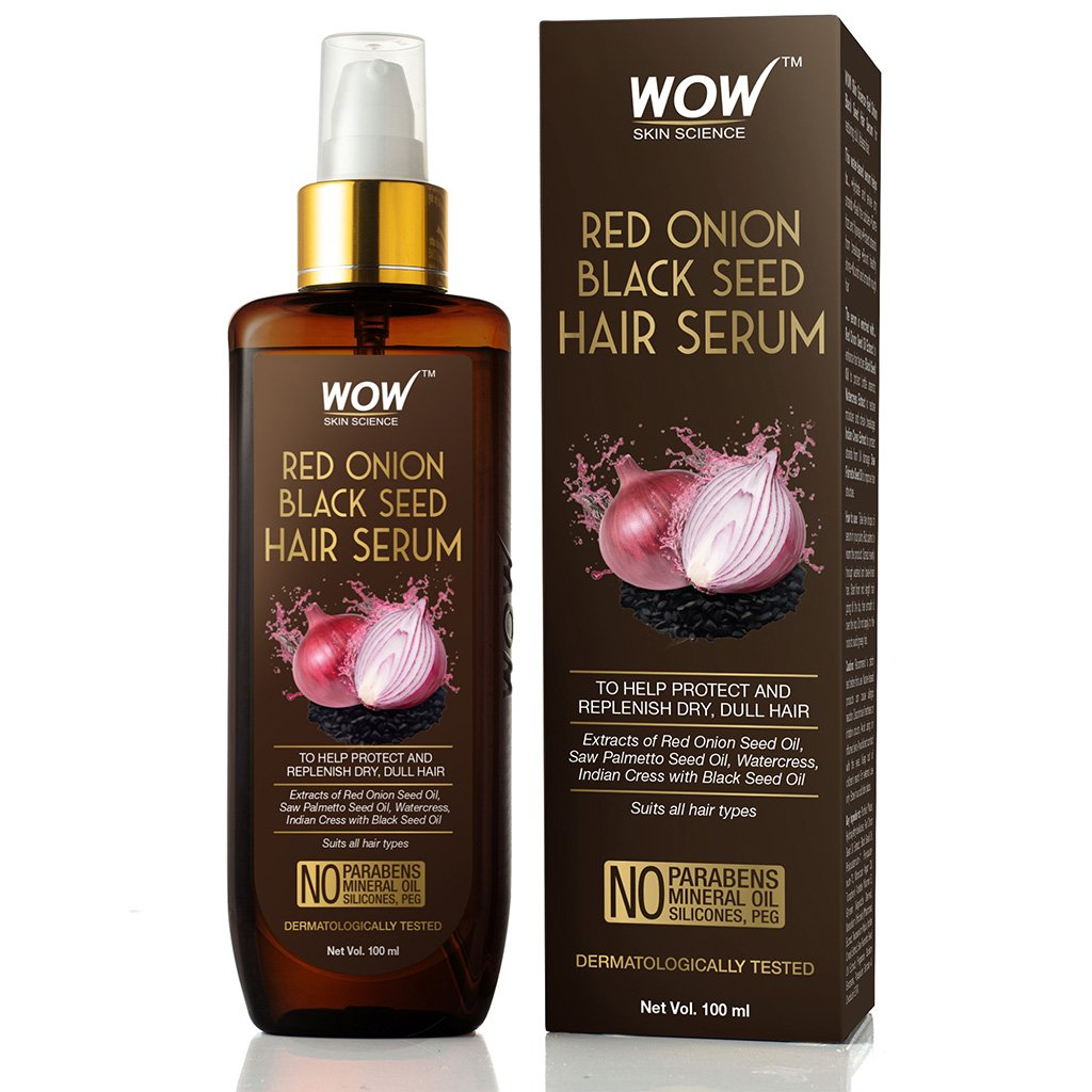 Wow Red Onion Black Seed Hair Serum, with Red Onion Seed Oil Extract