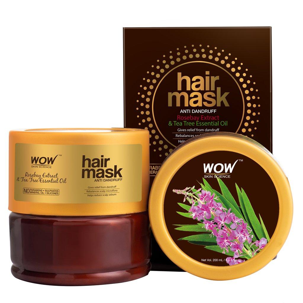 Wow Rosebay Extract & Tea Tree Essential Oil Anti-Dandruff Hair Mask