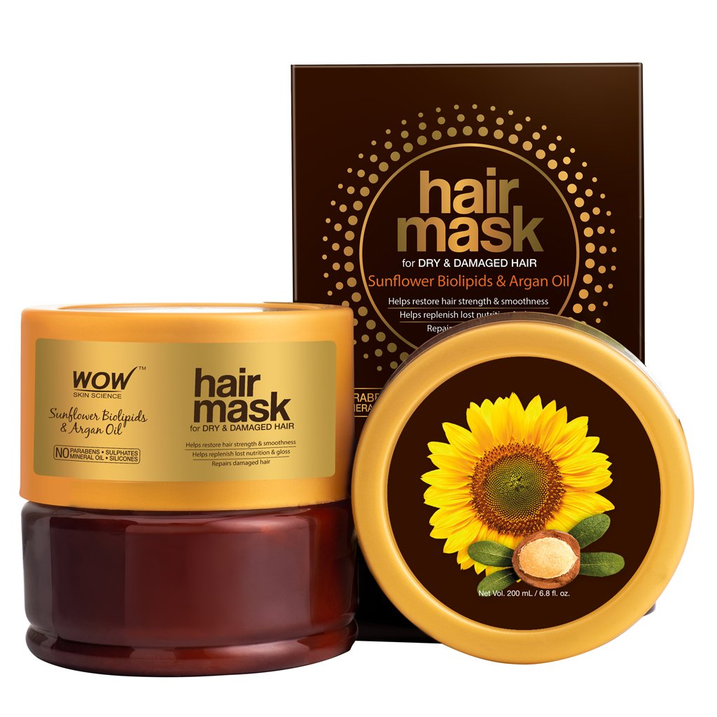Wow Sunflower Biolipids & Argan Oil Hair Mask for Dry & Damaged Hair