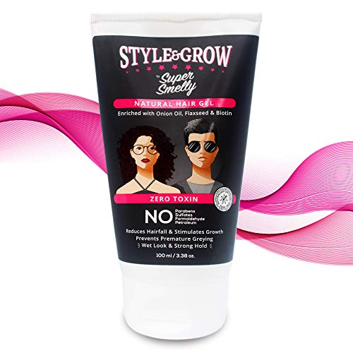 Super Smelly 100% Natural & Toxin Free Style&Grow Onion Hair Gel, 100ml