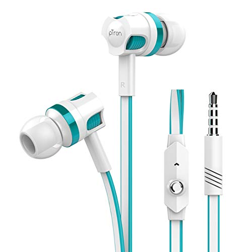 pTron HBE5 Raptor in-Ear Stereo Sound Wired Headphones with Mic