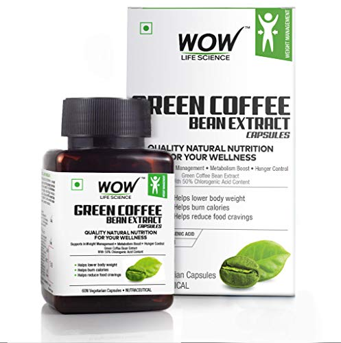 Wow Green Coffee Bean Extract Capsules, 60 Count