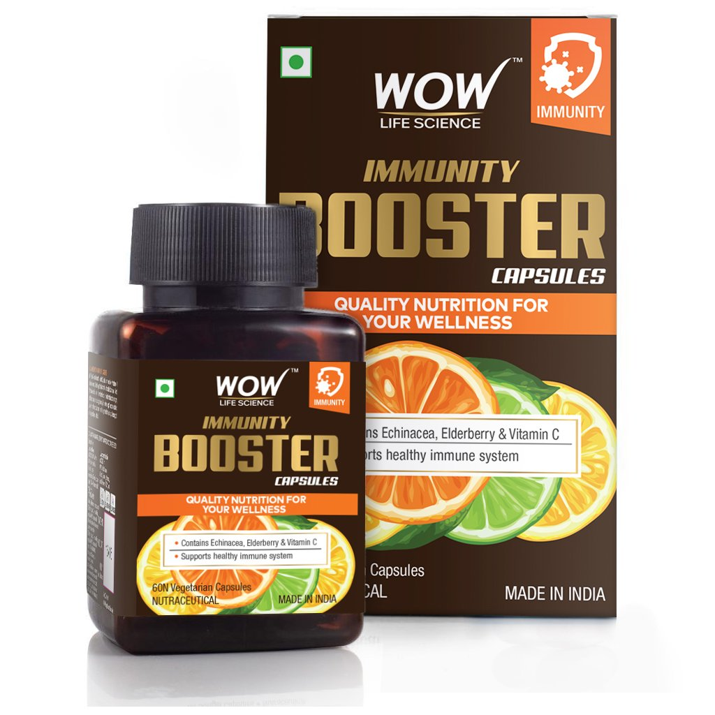 Wow Immunity Booster Capsules, Support Healthy Immune System, 60 Veg Capsules