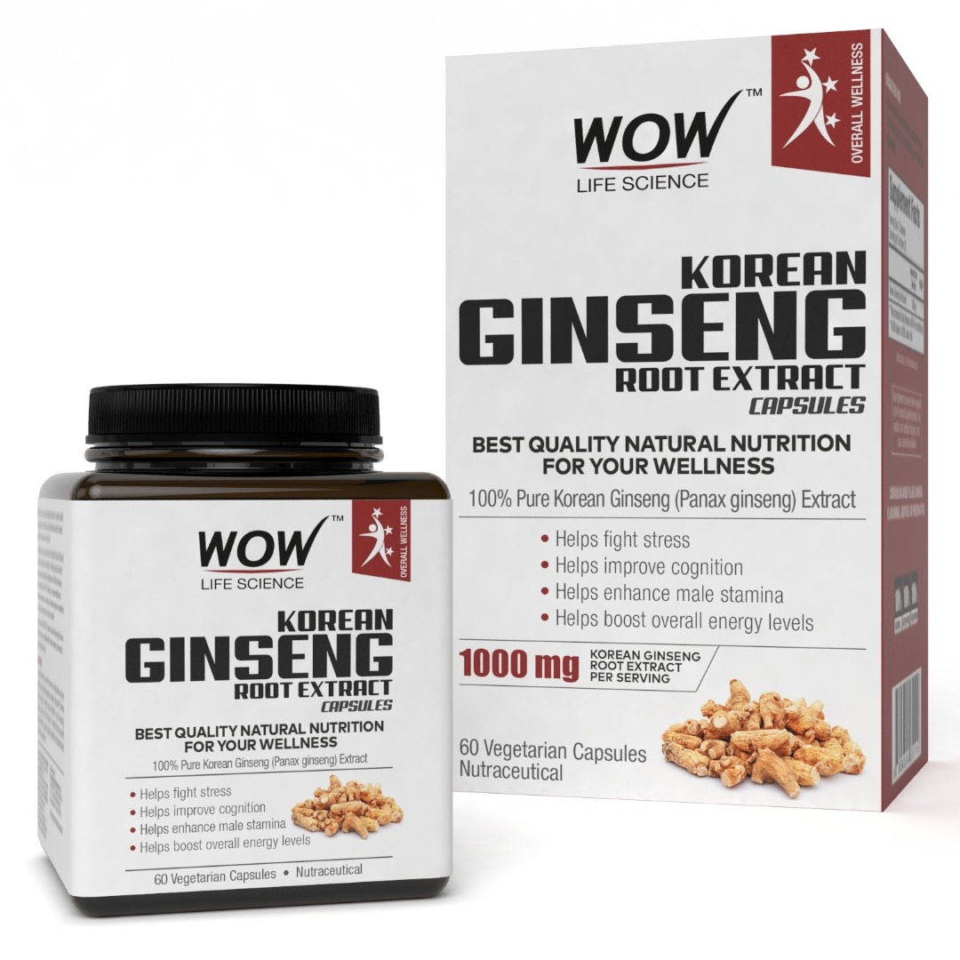 Wow Korean Ginseng Root Extract 60 Capsules