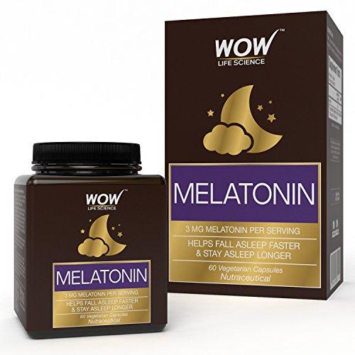 Wow Melatonin 3Mg, 60 Veg Capsules