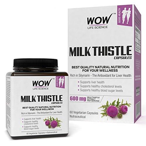 Wow Milk Thistle 600Mg, 60 Veg Capsules