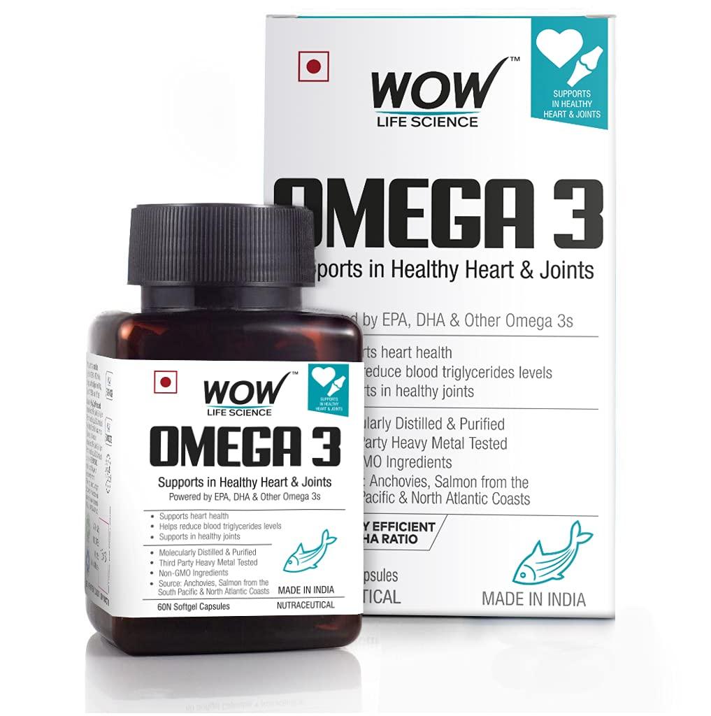 Wow Omega-3 Fish Oil Triple Strength 1000Mg (550Mg Epa; 350Mg Dha; 100Mg Other Omega 3 Fatty Acids), 60 Capsules