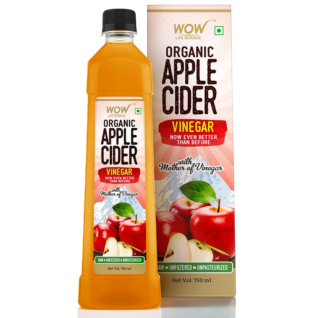 Wow Organic Apple Cider Vinegar, with Str& of Mother, Not From Concentrate
