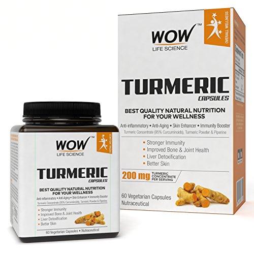 Wow Turmeric 200 Mg, 60 Veg Capsules
