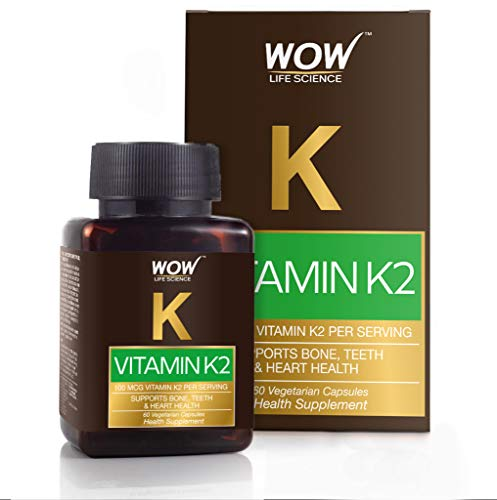 Wow Vitamin K2 100Mcg, 60 Veg Capsules