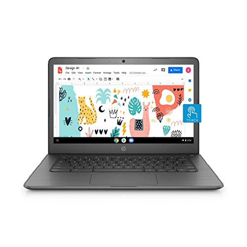 HP Chromebook N3350 Thin Laptop (4GB RAM, 64GB, 256GB Expandable, 14-Inch) (Model No. 14-ca002TU)