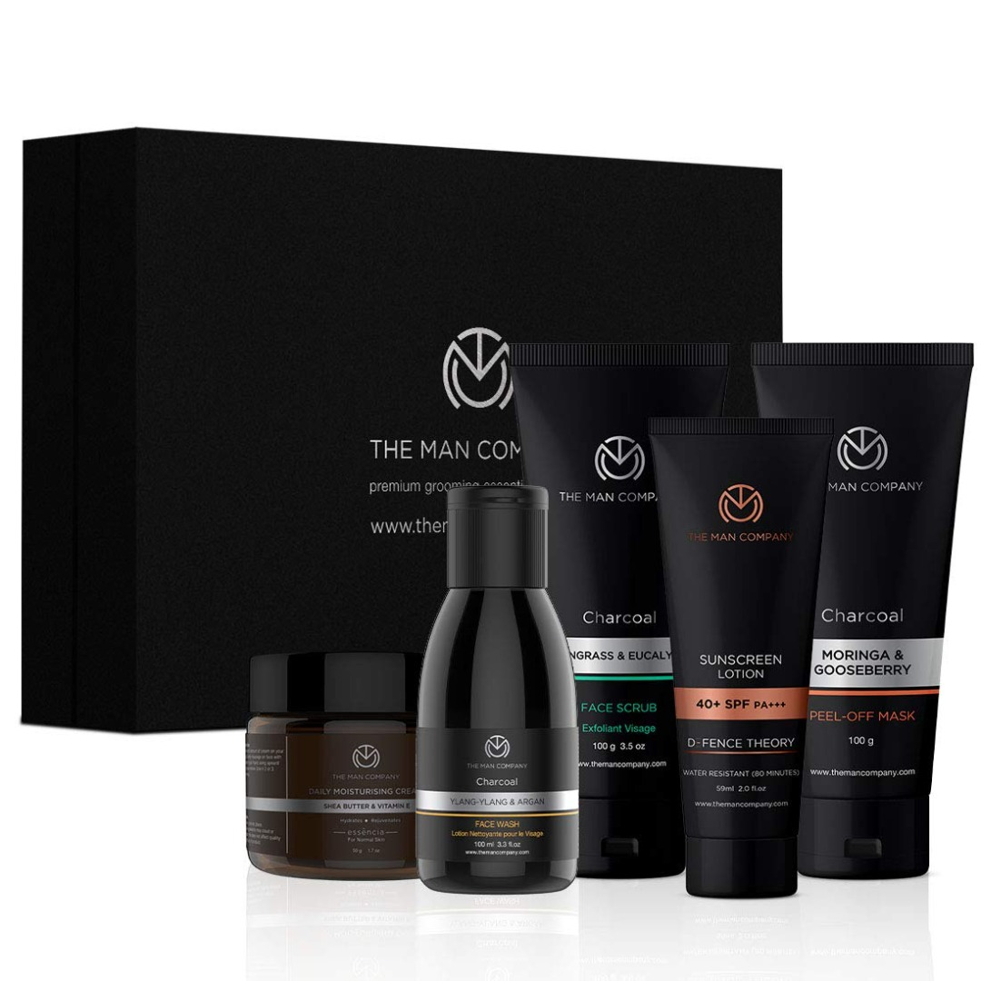 The Man Company Deep De-Tan Combo - Face Wash + Face Scrub + Peel off Mask + Soap
