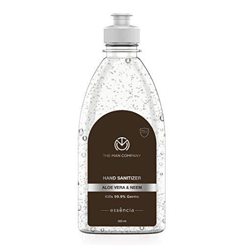 The Man Company Hand Sanitizer with Aloe Vera & Neem Fragrance, 500ml