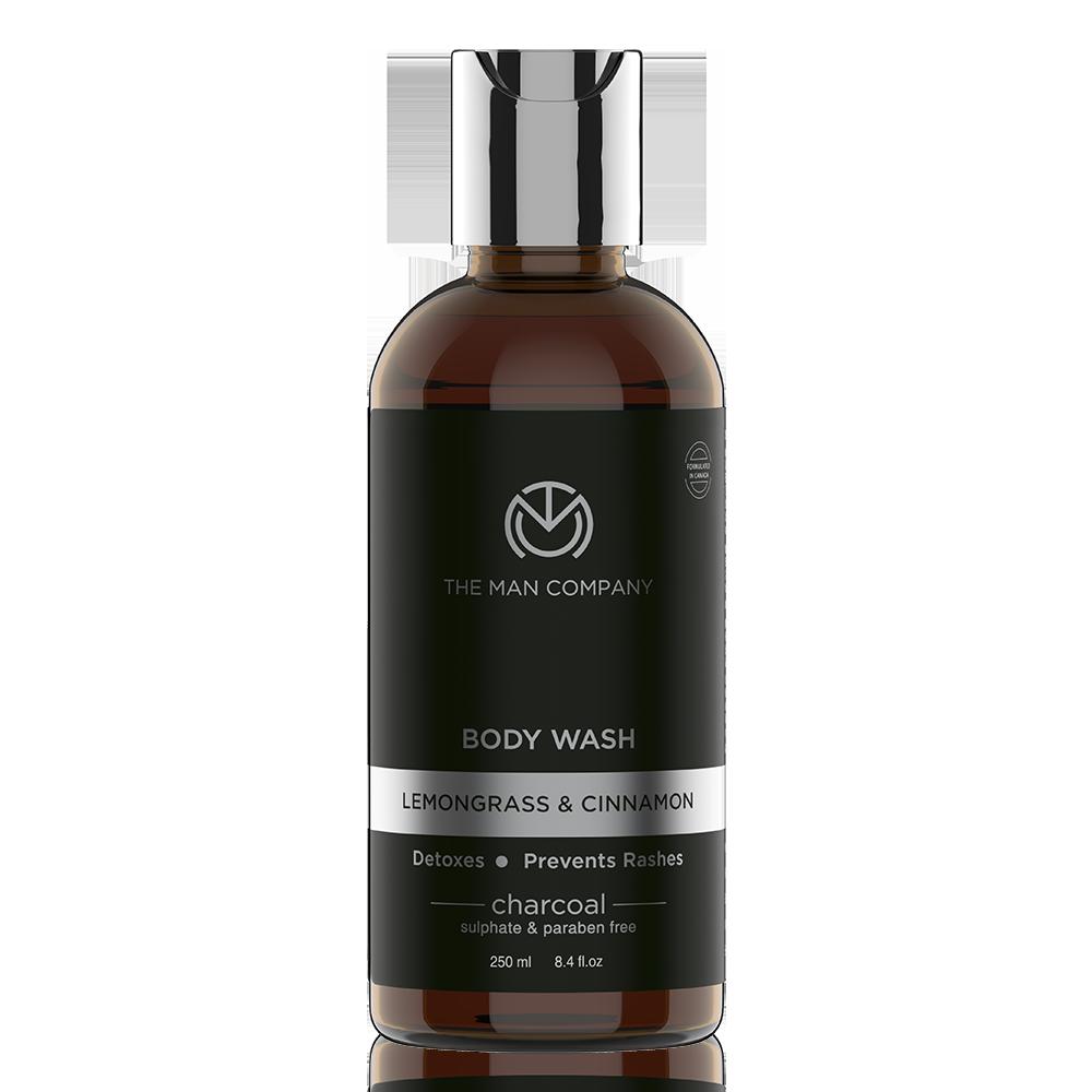 The Man Company Lemongrass & Cinnamon Charcoal Body Wash