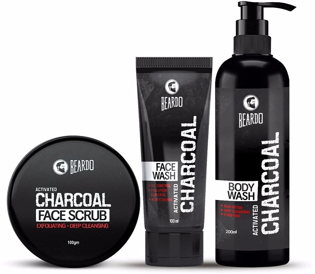 Beardo Activated Charcoal Combo