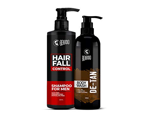 Beardo Hair Fall Control Shampoo & De-Tan Bodywash Combo