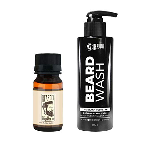 Beardo The Black Velvette Beard Oil & Wash Combo