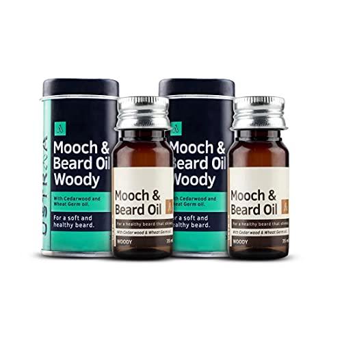Ustraa Beard Oil Woody, 35ml (Set of 2)