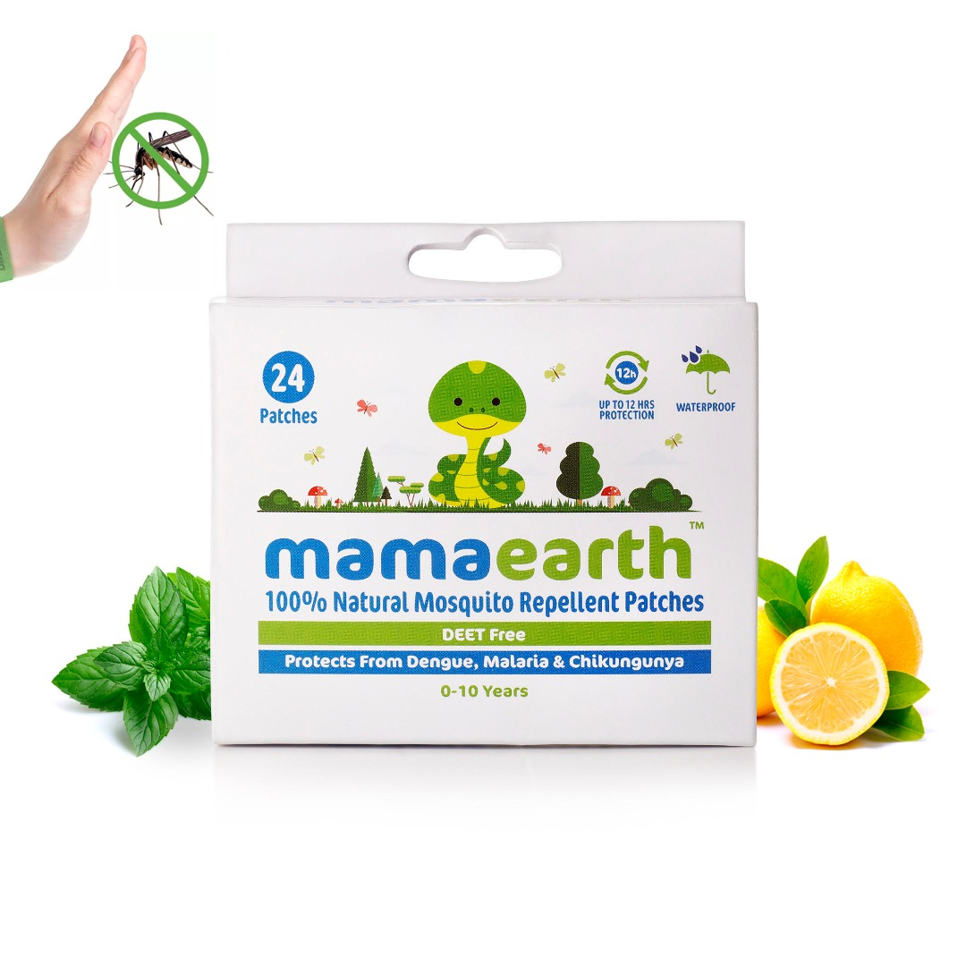 MamaEarth Natural Mosquito Repellent Patches, 24Pcs