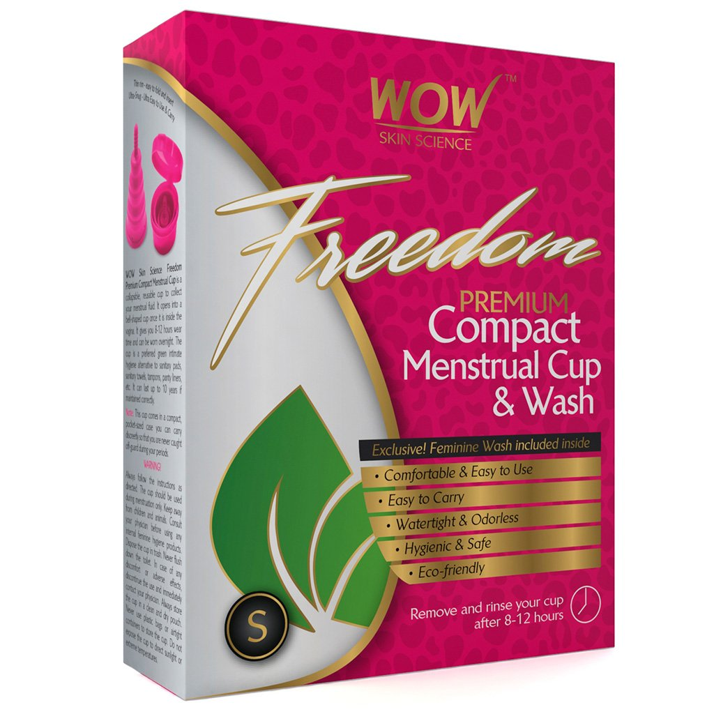Wow Freedom Reusable Menstrual Cup & Wash Pre Childbirth, Small (Under 30 Years)