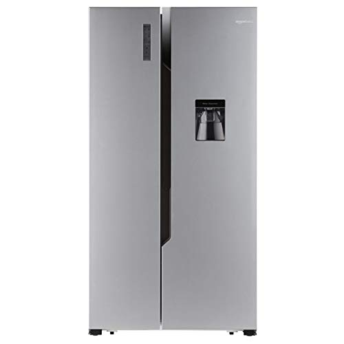 AmazonBasics 564 L Frost Free Side-by-Side Refrigerator with Water Dispenser