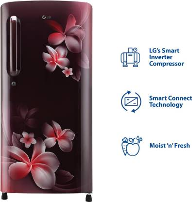 LG 190 L 4 Star Inverter Direct-Cool Single Door Refrigerator (GL-B201ASPY)