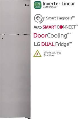LG 260 L 3 Star Inverter Linear Frost-Free Double Door Refrigerator (GL-T292RPZN)